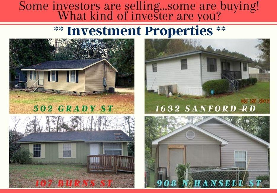 4 Rental Investment Houses Available as a Package!  The individual addresses are: 107 Burns St, 502 Grady St, 908 N Hansell St, 1632 Sanford Rd.  A contract must be in place prior to showing as to not disturb the tenants.  Will need a 24 hour notice to show.  Current Leases on File