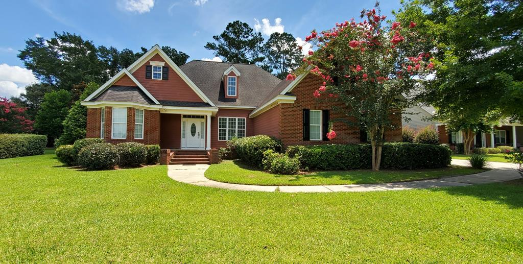 Beautiful home now available in Summer Glen at Shallowbrook.  Dont miss your chance to see the Amazing details throughout this home! Situated just 30 minutes north of Tallahassee Florida and within minutes of downtown Thomasville Ga. This home offers a split and open floor plan with a flex room that has endless possibilities.  Beautiful kitchen with stainless appliances, marble flooring, granite countertops, ceramic backsplash, smooth cooktop, and a pantry/storage area with a cooking prep area and opens to the oversized living room with vaulted ceilings, recessed lighting and French doors leading to the screened in porch overlooking a beautifully landscaped back yard with privacy fence, storage shed and open patio area. The gorgeous formal dining features marble flooring, craftsman columns and inlaid judge panels with a large bay like window.  Master suite is complete with intricately detailed trey ceiling, sizable en-suite with bay window and a luxury spa bath complete with his and her walk-in closets, his and her bath vanities, an oversized jetted spa tub and an immense travertine tiled shower with glass doors. The guest bedrooms offer a lot of space with double door closets.  Guest bath is complete with a double vanity sink, marble flooring and granite countertops.  Additional features are a large 2-car garage, extra parking pad, sprinkler system in the front and backyard, 14 ceilings, and on a half-acre lot.  This is the home that is a must see!
