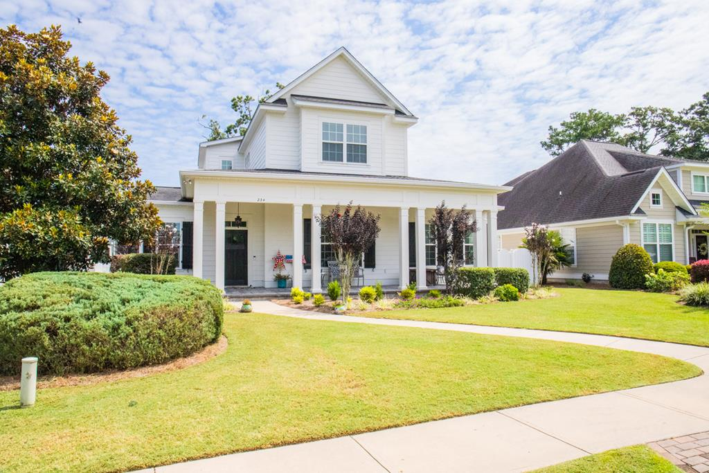 This Amazing Home features 4 BR, 2.5 BA a spacious 3,486 sqft and is located in Madison Grove overlooking the large common area known as Landover Park. Downstairs features formal living room with double sided gas fireplace that can also be enjoyed from the formal dining room. Kitchen is located in the center of the main level overlooking the huge family room and has a center island that is great for extra seating or food prep. Main level also features the master bedroom w/ large bath including double vanities, luxury shower, soaking tub, & walk in closet. Half bath also located on first level convenient for your guests. Acacia and pecan flooring gives home a great flow with high ceilings and crown molding. Upstairs is a bonus area great for a media room or toys. 3 large bedrooms located upstairs accompanied by full bath. The backyard is fenced in and has a stamped concrete patio.