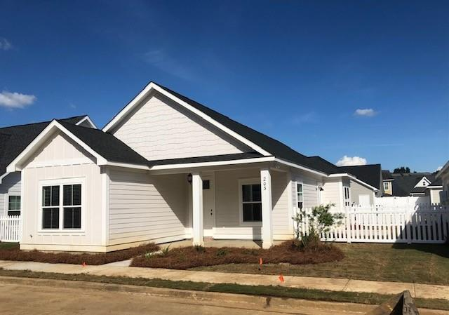 Last cottage to be listed and sold in the Jamestowne area of Madison Grove subdivision.  This 3 bedroom, 2 bath cottage is brand new, upgraded with a FULL APPLIANCE KITCHEN PACKAGE, CUSTOM FITTED BLINDS FOR ALL WINDOWS, and lastly,  just waiting on you to put your touch on it.  This is move in ready and can close quickly.  Schedule your showing today!  Seller is licensed agent in the state of Georgia.