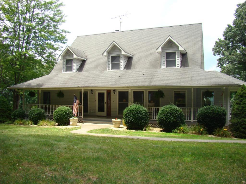 HUGE PRICE REDUCTION!!! Beautiful home situated on top of ridge top overlooking 160 acres 3 miles outside of Wytheville, VA. With 3200 square feet of finished space and an additional 750 sf garage apartment for extended family members.Perfect for horseback riding, small farming or just recreational fun.There are riding trails all over farm. The home has hardwood floors through out with the master and the laundry on first floor. Beautiful views from any room. There is additional land available.Take a tour of this private property online and set up an appointment to view in person as soon as possible. Very private and close to town.