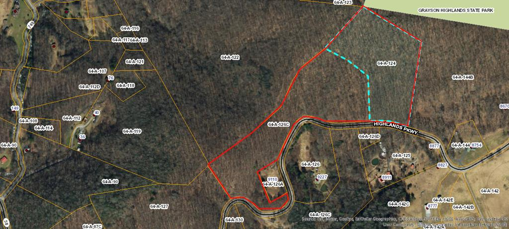 23.252 acres Joining Grayson Highlands Park. If you've been searching for a vacation property near Grayson Highlands State Park and all of the recreational opportunities in Western Grayson County, this is it. It consists of 2 tax parcels so you could share it with a friend or family member. This tract offers great Southern Views with some clearing. It has extensive highway frontage along Hwy. 58. known regionally as the Crooked Road. This property touches Grayson Highlands Park and is a short drive to the Virginia Creeper Trail and many area trout streams. There are extensive hiking and horse trails located in the park and Jefferson National Forest near by. Electric located nearby on an adjacent tract.