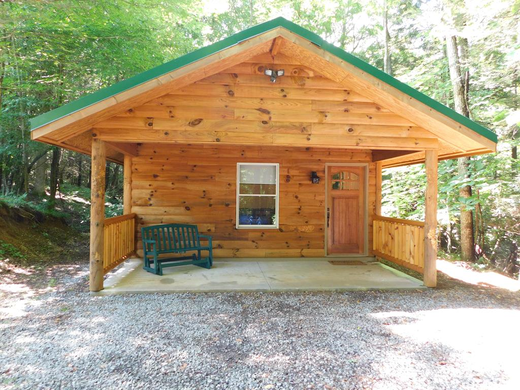 GATLINBURG TYPE PROPERTY RIGHT HERE IN TAZEWELL COUNTY! YOU DON'T NEED TO DRIVE MILES AND MILES TO ENJOY NATURES PEACEFUL SETTING AND PRIVACY! JUST OFF OF COVE CREEK ROAD IS ALMOST 50 ACRES AND A CABIN THAT CAN BE USED FOR WEEKEND GETAWAYS, HUNTING EXCURSIONS, AN AIRBNB OR LIVE THERE ALL YEAR LONG! THE LONG TREE LINED DRIVEWAY OPENS UP TO A LARGE LEVEL AREA THAT IS USED FOR PARKING CARS AND ALSO OFFERS 3 HOOKUPS & A SEPTIC DUMP FOR CAMPERS. JUST BELOW THE PARKING AREA IS THE CUTEST CABIN OFFERING OPEN FLOOR PLAN WITH FAMILY ROOM, KITCHEN W/GRANITE, BEDROOM W/LOFT, BATHROOM AND LAUNDRY CLOSET. THERE'S CERAMIC TILE THROUGHOUT AND BATHROOM HAS HEATED FLOORS! NICE COVERED FRONT PORCH AND JUST BEYOND THE CABIN IS A 16 X 16 OBSERVATION DECK. THERE'S A UTILITY BUILDING FOR STORAGE. THERE ARE ATV TRAILS LEADING TO COVE CREEK WHERE YOU CAN TEST YOUR FISHING SKILLS TO CATCH SOME NATIVE TROUT OR JUST SIT AND LISTEN TO THE CREEK! THE SELLERS ARE OFFERING THIS TURN KEY WITH AN ACCEPTABLE OFFER.