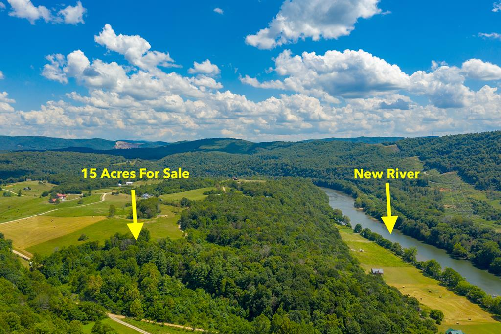 Nudged right against the New River is this remarkable 15 acre property. The land is both open and wooded, so you have a variety of ways to build your dream home. Access to the river is deeded via the River Hills community area, making this an exclusive point of the New River that youll feel you can call your own. With unparalleled views and located only a short drive from great shopping and amenities, this land is versatile and ready for your creativity. Set up an appointment to look at it today!