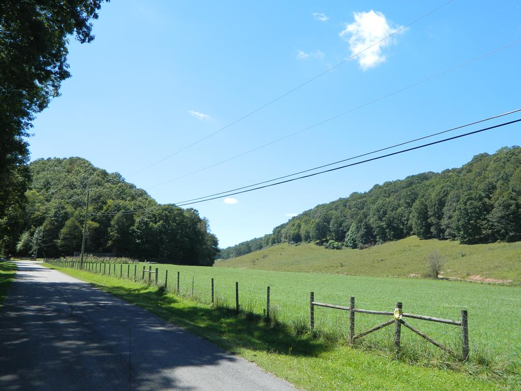 Smyth County -- Beautiful 94.96 acre tract featuring a large grazing boundary, 2 large fenced hay fields, 2 ponds, multiple home sites, privacy, awesome mountain view and adjoins National Forest!!! Great hunting - turkey, deer, bear. Property is fenced with cattle grazing there now. Please close gate upon entering and exiting. Located on a paved, state maintained road (SR 669). Only 1.4 miles from I-81 and 1.9 miles to downtown Marion sitting only .4 mile from the Marion Corporate limits. Four wheeler trail thru woods. Storage Unit at culdesac conveys with property. Approx .2 mile of road frontage. Hook Branch flows thru property.