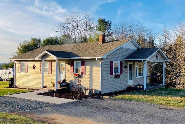 Perfect starter home! This 3 bedroom, 1 bath home sits right outside Galax city limits and is also close to I-77 and Blue Ridge Parkway. Home feature hardwood and tile flooring, beautiful oak cabinets in the kitchen, vinyl siding paved driveway and more!