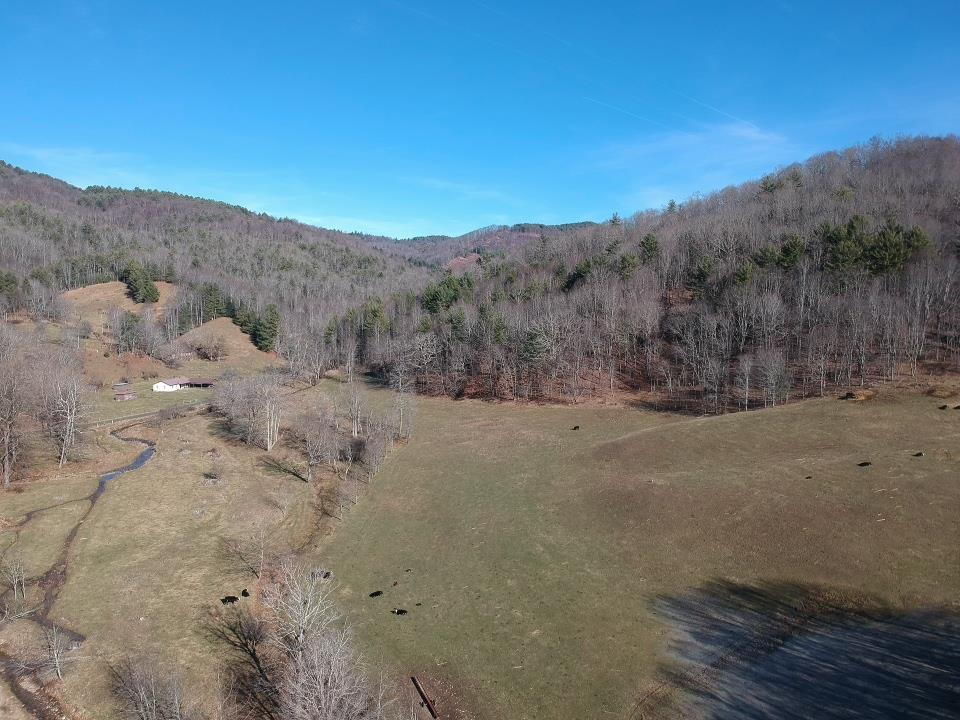 96+/- FARM WITH 3000' FEET OF FRONTAGE ON LITTLE FOX CREEK IN MOUTH OF WILSON.  APPROXIMATELY 75% OPEN LAND TO FARM WITH FENCE AND BARN. GREAT RECREATIONAL TRACT WITH LOTS OF WILDLIFE.