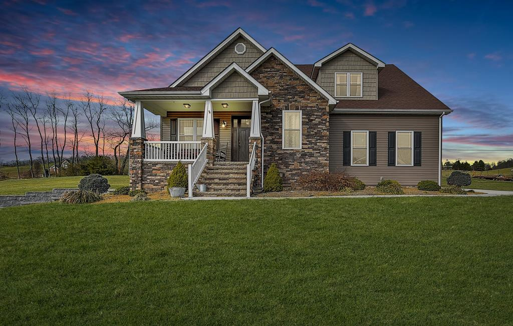 WOW Check out this custom CRAFTSMAN built home located just minutes from everything Downtown Abingdon and just seconds from South Holston Lake! You'll love the way it feels the minute you drive up and walk in! Home features 2 bedrooms, but lots of areas for additional bedrooms if needed. You'll find lots of potential in the basement that features a stamped concrete floor and is plumbed and ready for additional bathroom if desired. Outside you'll find over 3 acres of room to roam that features a detached 38' x 38' garage with electricity and water. Check this one out today, I promise you'll be glad you did! All information taken from CRS and owner and all information should be verified by buyer and/or buyers agent.