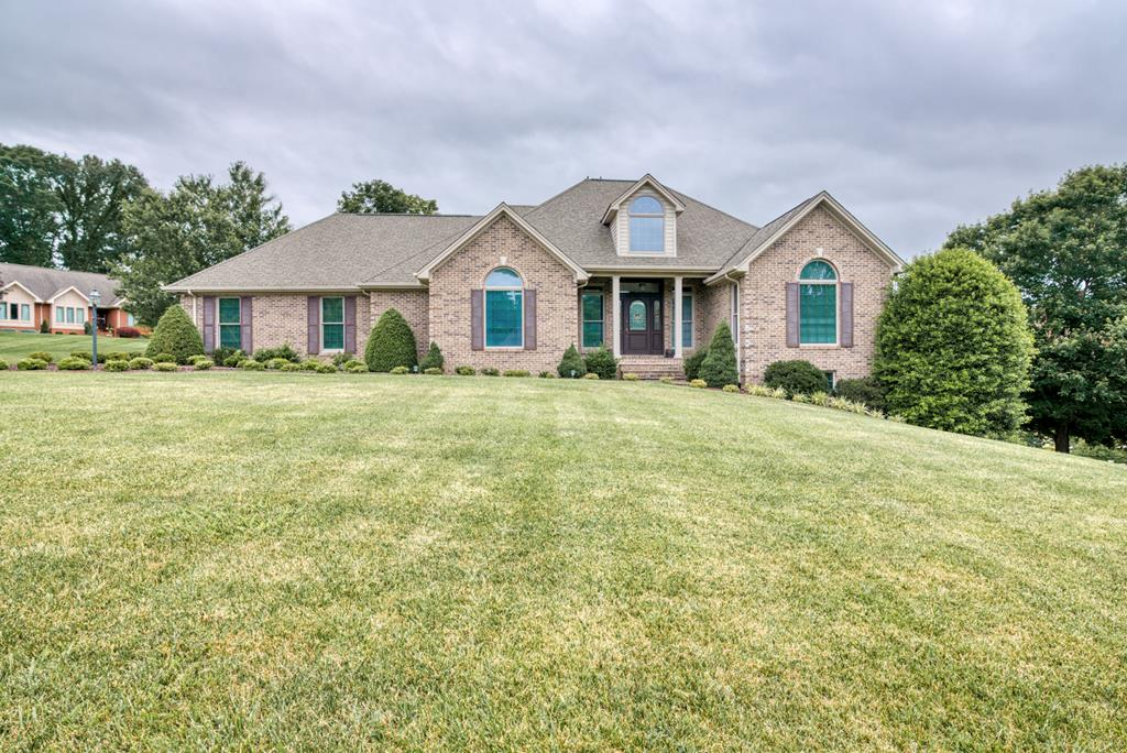 Enjoy one-level living at its finest with this pristine 3 bedroom, 4 bathroom home. Sitting atop the exclusive Worthington Subdivision, you'll enjoy convenient access to everything historic Abingdon Virginia has to offer. Easy access to Route 19 and I-81 makes daily commutes a breeze. Upon entering this prestigious brick home, you'll be impressed with the high-end finishings and quality to detail throughout. Some highlights are the gleaming hardwood floors, sunroom with skylights, luxurious master suite, and so much more. The kitchen is ready for the chef of the family featuring cherry cabinetry, tile flooring, a pantry, and an eat-in area. Huge unfinished basement with a bathroom already in place offers tons of potential to fit your needs. The basement also offers walkout access to the beautifully landscaped yard. Make your move to low maintenance living with this meticulously maintained home!