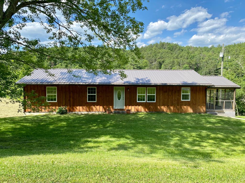 Dont miss this renovated ranch in a great country setting. This home has many updates with quality craftsmanship and materials. It offers one level living with three bedrooms, all with great natural light and new carpet. The bathroom has all new fixtures and tile floors. The kitchen has all new cabinets and countertops and new stainless appliances. Theres a large living room with beautiful hardwood floors. Bonus den with gas fireplace and a screen porch perfect for outdoor living. The full basement provides plenty of storage space or finish to add more living space. This is a great first home or for those looking to downsize. It would also be a great getaway in the mountains. Call today to schedule your showing.