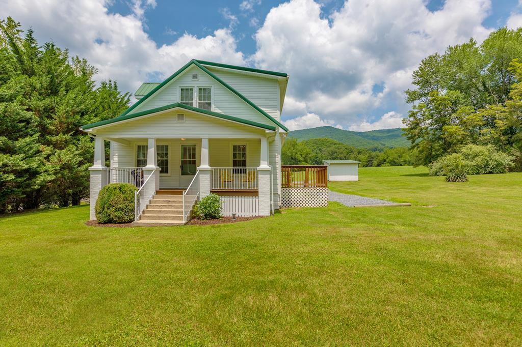 """Almost 30 acres with a renovated, move-in ready FARMHOUSE  like no other in Washington County, VA.   Made up of 14 acres - Homesite & Clear Pasture,  8.50 acres - Wooded in the rear, and  just over 7 acres on the Hayter's Gap Road side.  In 2005, the FARMHOUSE underwent a """"gut renovation"""".  NEW Includes:  Roof, Siding, Gutters, Sheetrock, Plumbing, Electrical-Wiring, Tankless Water Heater, New Kitchen & Bathrooms, Light Fixtures, Flooring,  HVAC, Paint, plus Public Water has been added.  The Farming Landscape is very flexible. You can rear ALL types of Livestock, Chickens, Turkeys, Rabbits & more.  Start your own Organic or Conventional Gardening Systems to sell at the local Farmer's Markets. The Large Barn on the property is now being used to store hay.    If you like to Hunt & Fish, only 4 miles to Virginia's Clinch Mountain Wildlife Mgmt. Area, Laurel Bed Lake & Big Tumbling Creek. If you enjoy hiking, the Channels, are minutes away.   Polished Farmhouse Charm with Land & Views!"""