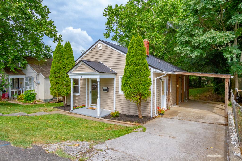 NEW siding, NEW washer and dryer hook-ups, NEW kitchen countertops, NEW kitchen flooring, NEW ceiling fans and lights, and other fresh updates. Has a newer metal roof, replacement windows, a private backyard, a large out building that has electricity, an attached carport for off street parking, and HVAC! Would make the perfect home for a first-time home buyer, investor, or a small family! The backyard is spacious enough to build on additional rooms, as well as finishing out the upstairs to make another room or added storage space. Radford is growing, especially this West Side! New restaurants, shops and businesses are just a walk away. Not to mention Bisset Park, the Riverway Trail and Wildwood Park. Visit www.Radfordva.gov and explore more the city has to offer!