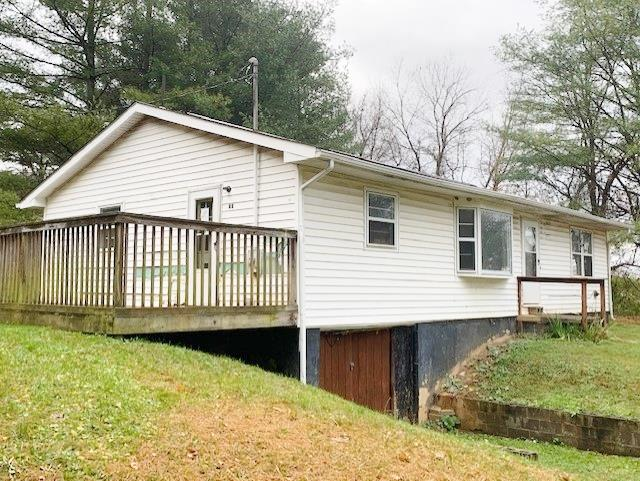 3 BEDROOMS, 1.5 BATHS, 1219 SQ. FT. RANCH STYLE HOME LOCATED IN RURAL BLAND COUNTY. THIS PROPERTY FEATURES: FORMAL DINING ROOM, 265 SQ. FT. DECK, LAMINET HARDWOOD FLOORING, FULL UNFINISHED BASEMENT WITH DRIVE UNDER GARAGE AND MUCH MORE. CHECK IT OUT TODAY!!
