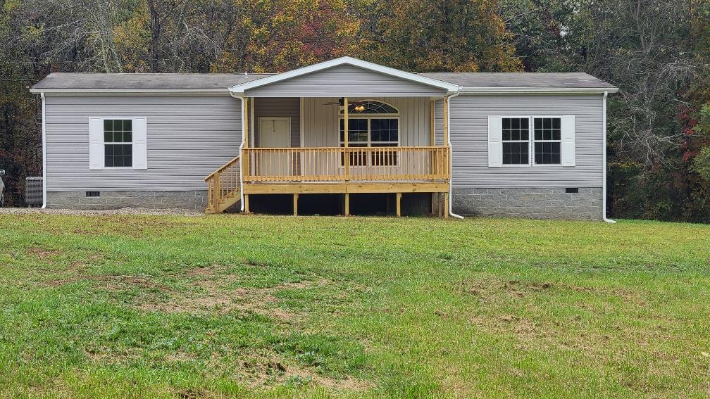 This gorgeous 2012 Clayton 3BR, 2 BA was recently set on this 0.7+/- acres with a permanent foundation. Newly covered porch, deck, heat pump, range/oven, and refrigerator.