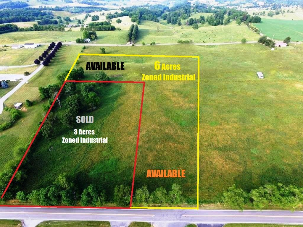 Draw up your plans to develop this 6 acre parcel in the industrial park. This level parcel has 150' of frontage on Stafford Umberger Drive and would be fairly easy to develop with easy transition from the drive through the park. Located less than 3 miles from I-81 and I-77 interchange, this property can be the home of the next industry with suppliers and distribution channels easily connecting for product delivery to east coast markets. Contact Listing Agents to visualize opportunities on this ready-to-be-developed tract with industrial zoning.