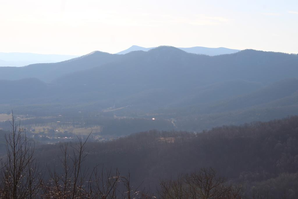 MILLION DOLLAR VIEWS ! Long range Blue Ridge Mountain views are jaw dropping magical and in this price range about impossible to find. Private, secluded, mature trees, mostly wooded, already surveyed, power available for you to run to building site of your choice. Gorgeous elevation with road beds all over it. Easy to walk on and see. Affordable for just about anyone. Come to the mountains and enjoy the serenity in the country just off the Blue Ridge Parkway. Location location location. There is an adjoining lot also for sale if you seek more acreage. There are trails all over the tract. Easy access. The building sites at one time were cleared and would be easy to quickly clean up again. The roads are easy to walk around on as well and the land has plenty of wildlife to enjoy. Location at the end of road is perfectly serene, peaceful, quiet. Worth putting your boots on the ground and seeing this in person. These million dollar views of the Blue Ridge Mountains WOW ! This is Lot 21 only