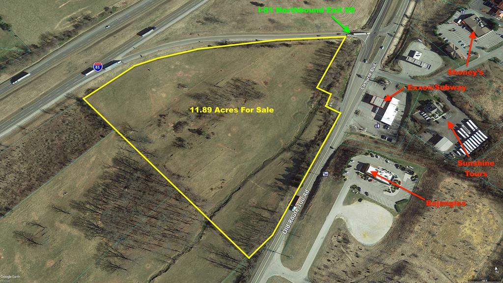 This nearly 12-acre lot is a premier commercial property right in the middle of Dublin! Directly off I-81 Exit 98, this gives the property unparalleled visibility, with viewpoints from both the interstate and the major highway. A stones throw from the shopping hub of Dublin as well as downtown, it is a great spot for travelers and locals alike. This property is priced to sell and ready for your business acumen. Schedule a showing today