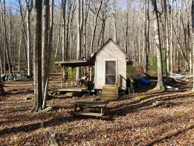 Talking about off grid living at it's best...this is it.  This 47.5 acres of seclusion has it all.  Sit on the porch of the quaint cabin and enjoy the babbling creek that flows by, take a ride through the woods on the many trails, hunt at your leisure or invite friends over to enjoy the shooting range on the property.This is a perfect getaway and even includes an outside shower and sink area and an outhouse! There is solar power already in place for you as well.  To top it off, you join the Jefferson National Forest!  Call today before this gem is gone!