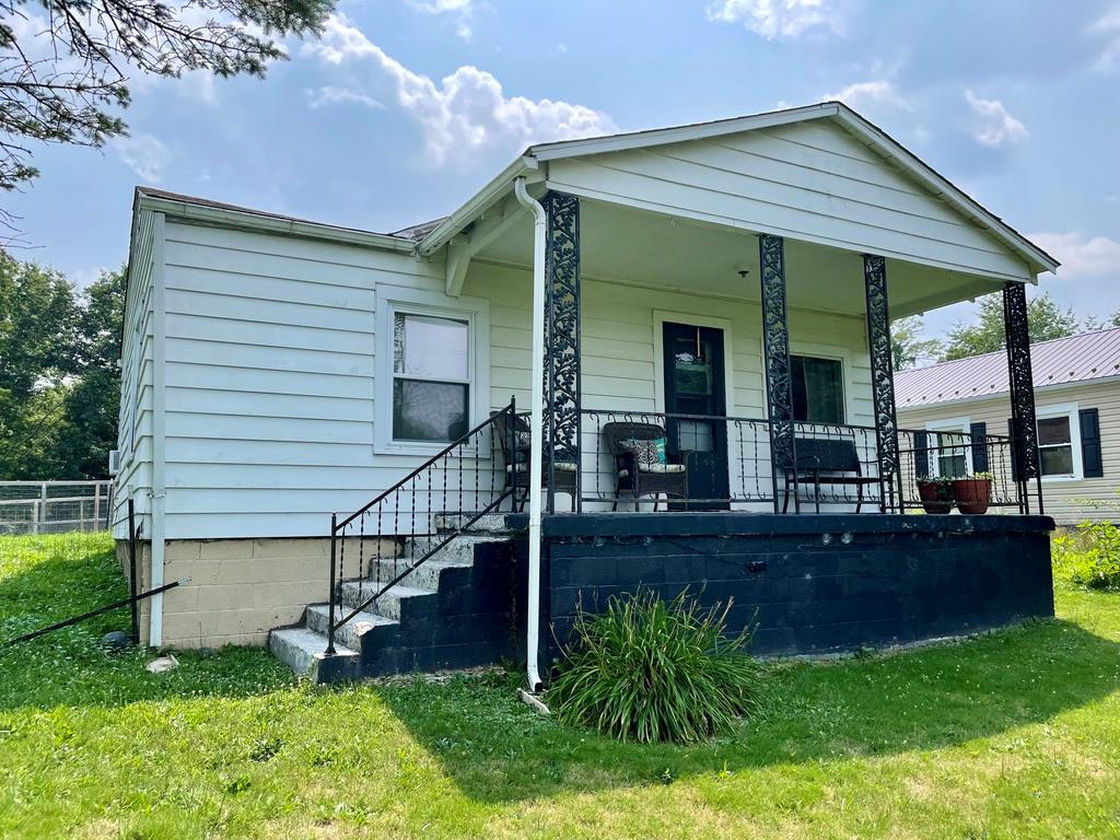 Two bedroom one full bath home just outside the town limits of Pulaski and only minutes from Gatewood Park where you can fish, swim, hike, and enjoy lots of outdoor activities.  This home sits on 3 +/- acres that is a corner lot on two paved roads.