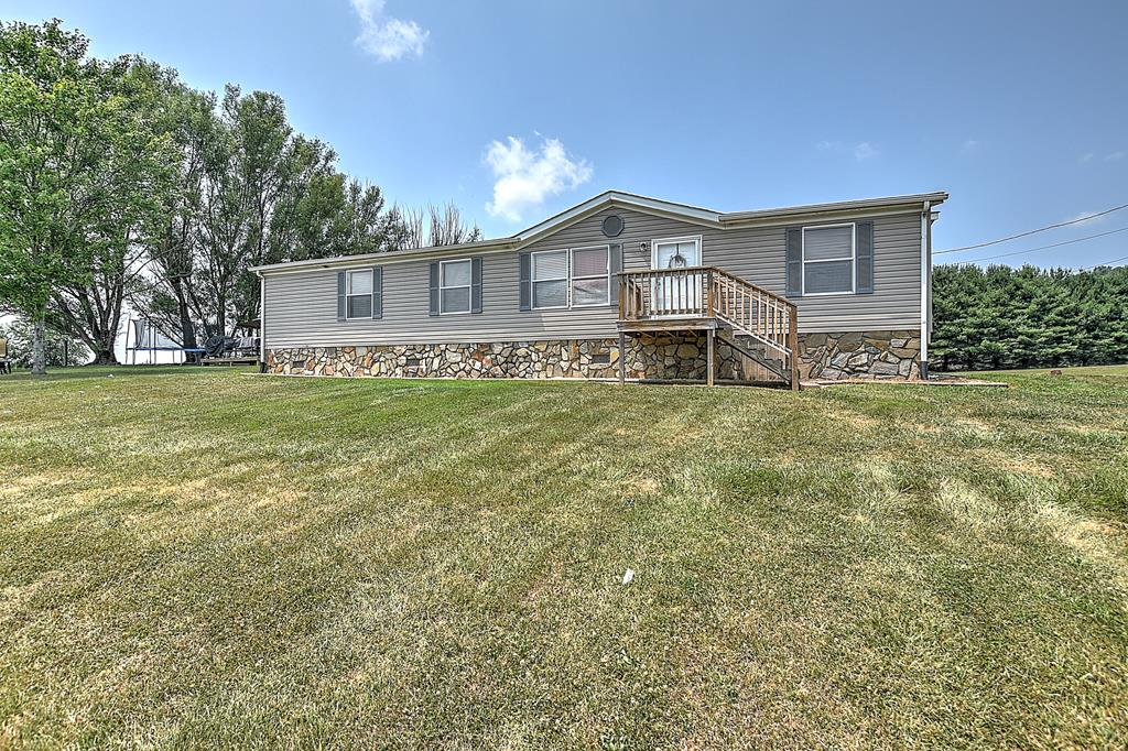 **OPEN HOUSE SUN 7/25 2-4PM** Seller is requesting all offers be in by 12pm on 7/26. Stunning mountain views await you from the deck of this well maintained home which is situated on over 3 acres. If privacy is what you desire, this property has it! Featuring over 1500 square feet, all one level, 3 bedrooms, walk-in closets, 2 full bathrooms, an open concept kitchen and den and another living room. There is also a detached metal building that measures 30x40 which provides tons of storage and/or garage space. While enjoying the country feel, you are only minutes to I81, Walmart, a hospital and restaurants! Seller just had a brand new roof installed this week! Delmar road is being moved and VDOT has aquired a small corner of the parcel.** All information believed to be accurate but not guaranteed***