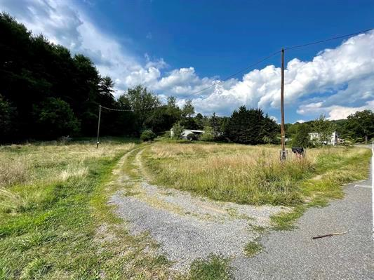 1.75 acre beautiful and peaceful building site. mostly cleared with abundant sweet- water well, water lines, driveway and septic  in place.  cabin-like building with wood stove, kick-back porch, and attached, covered parking spot. Framed by mature hardwoods and fir trees. Nestled between mountains. plenty of wildlife. only 5 miles from New River Trail and public boat launch. Hunters and boaters paradise. Trailer has various types of mold and is not liveable.