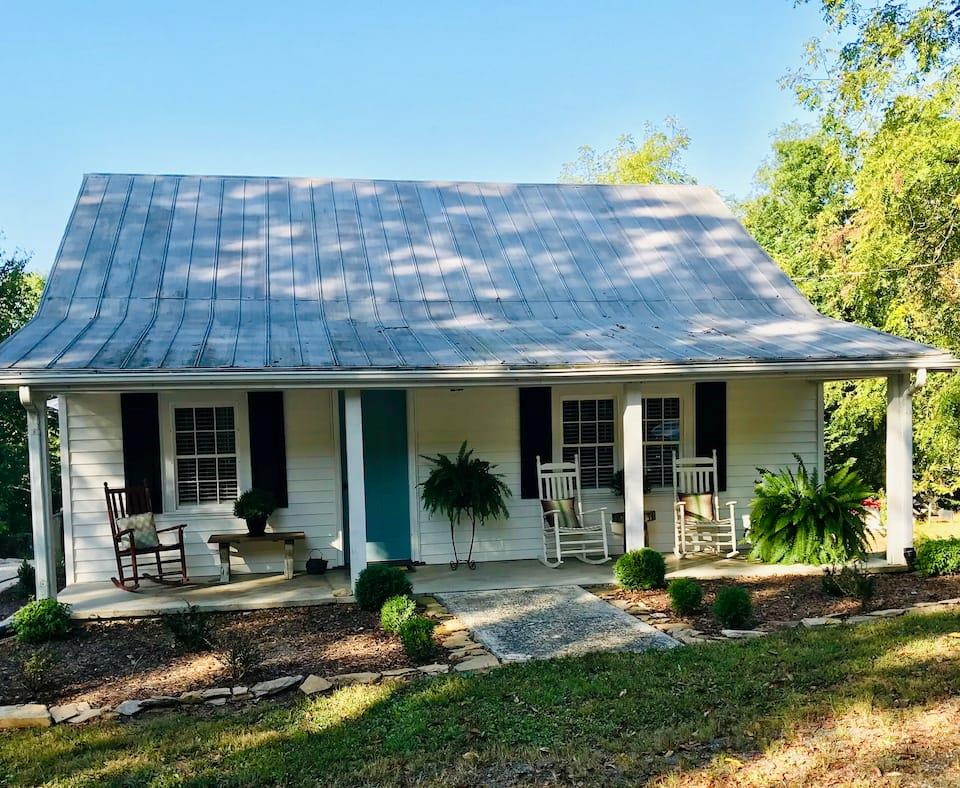 """This cottage is a must see!!! It is so cozy, inviting & simply adorable. Did I mention """"CLEAN"""". Yes it is very well kept. This property has been listed thru AIRBNB for more than 2 years and has produced a generous income for the owners. (for serious inquiries I can share their income from this rental.) There is a small creek on the property to enjoy on your many walkabouts on the 6.4 acre mini farm. Bear Den, a renovated farmhouse on 6.4 acres offers privacy, pastoral views, and is located in Hillsville, VA in the Blue Ridge Mtns. Come hike, bike, fish, kayak, & tube the New River. The towns of Mt. Airy NC, Galax, Floyd, Fries, and Christiansburg/Blacksburg are within a 45 mile radius for dining, vineyards, and bluegrass music. Cruise the Blue Ridge Parkway 9 miles away in Fancy Gap, VA. Stay comfortable during your stay with new central heating and air conditioning. Agent should determined Internet. New roof scheduled soon!    https://www.airbnb.com/rooms/38669775?source_impression_id"""